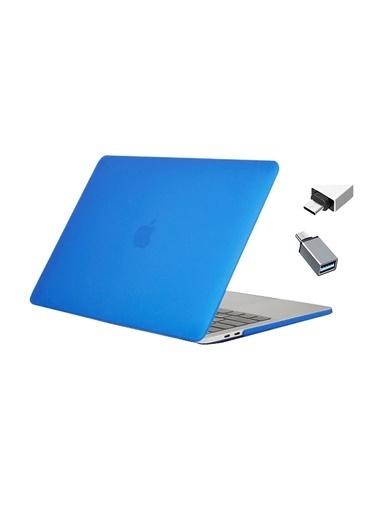 """Mcstorey Yeni MacBook Pro Type-c A1707 A1990 15.4"""" Kılıf Kapak Hard case Mat Mavi"""